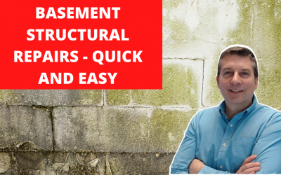 Basement Wall Structural Repair – Quick and Easy with Fortress Stabilization Straps